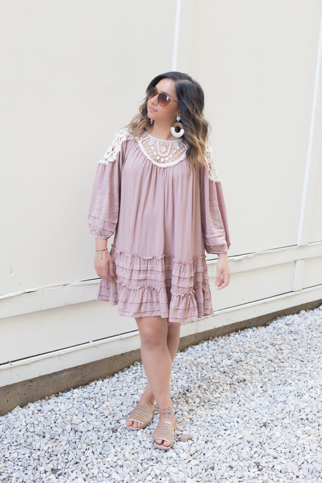 The Latte Crochet Dress