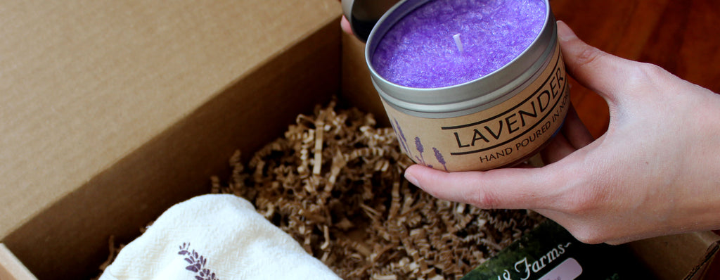 Lavender Candle Gift Box