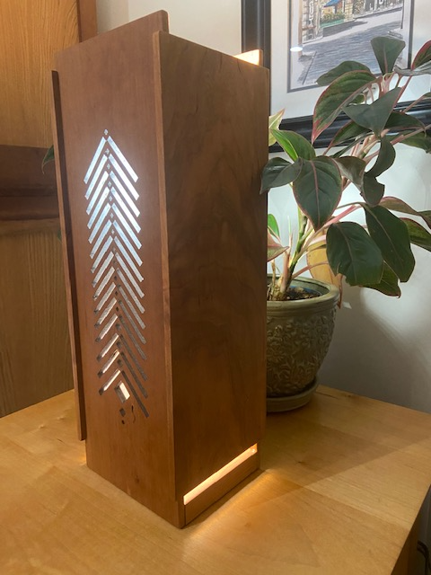 Tall Structures Table Lamp, Tall Pines Face