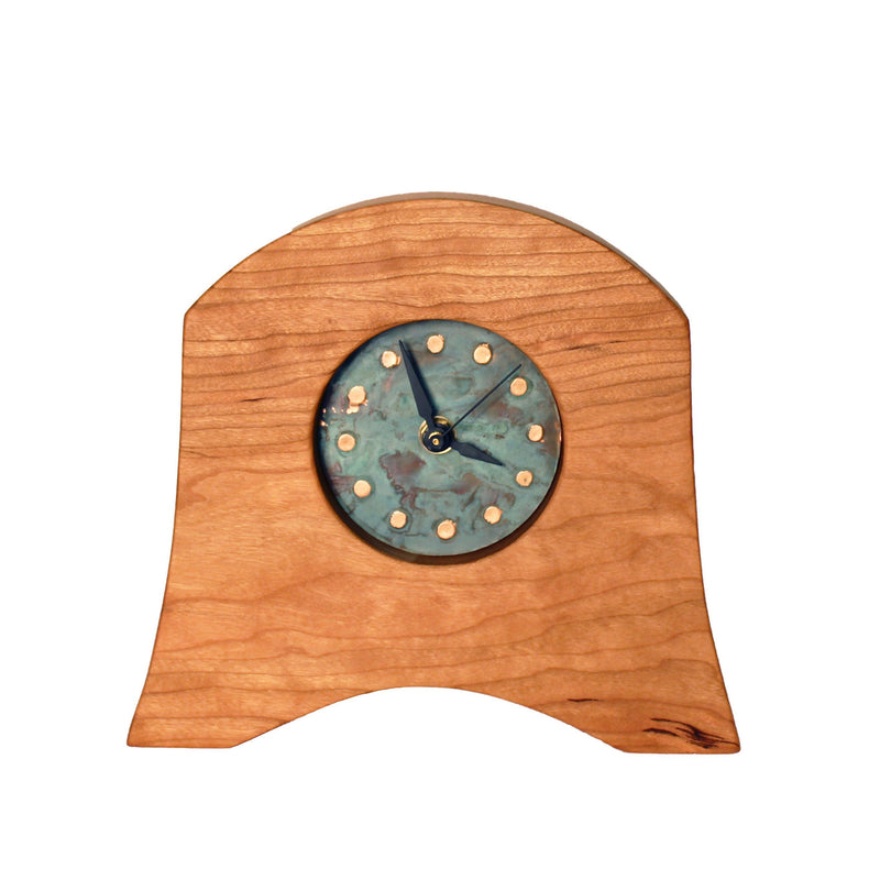 Box Clock- Patina Pinecone