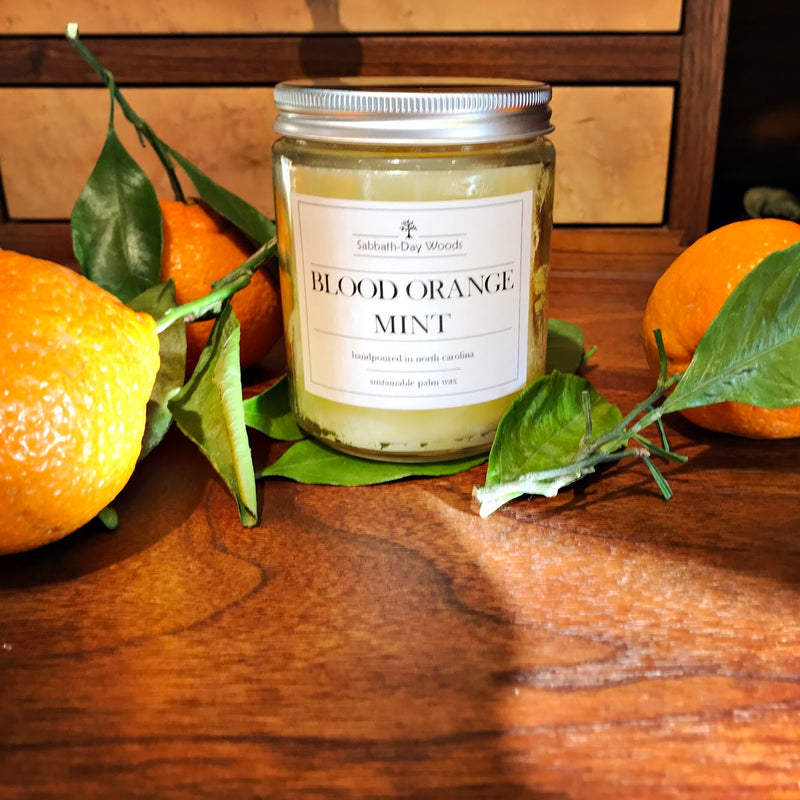 Blood orange Mint Candle, Fresh Kitchen Series