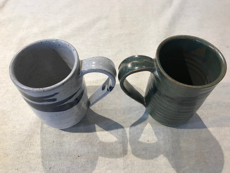 Mug in Sage Green with Black Accents