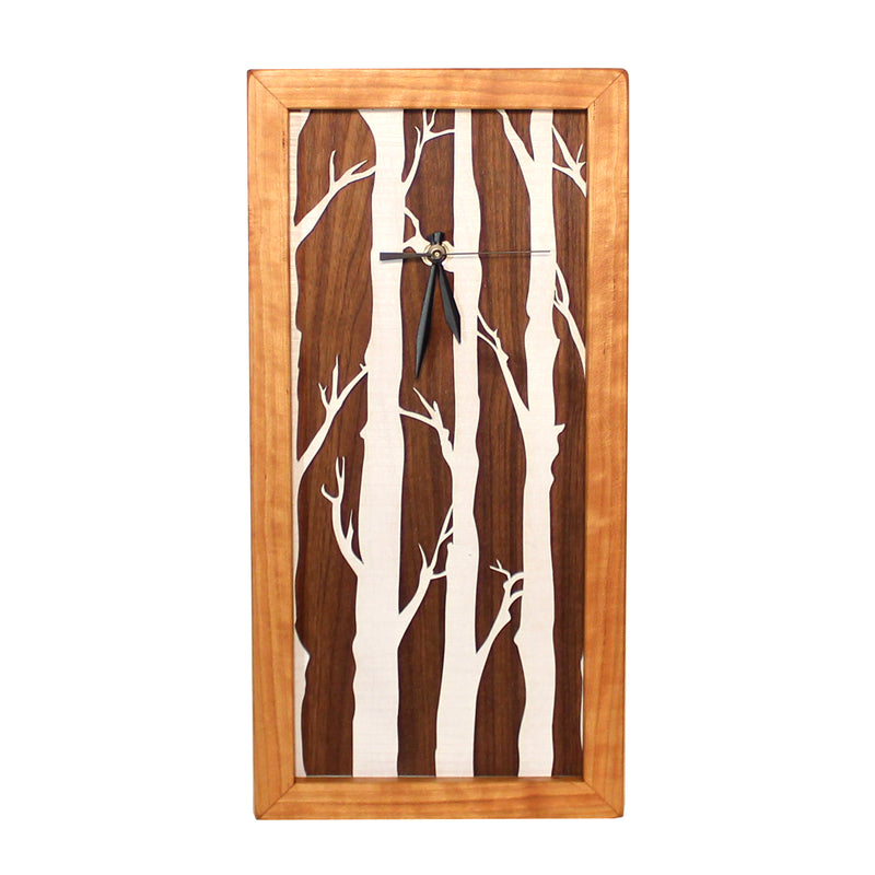 Tall Box Clock, Birches