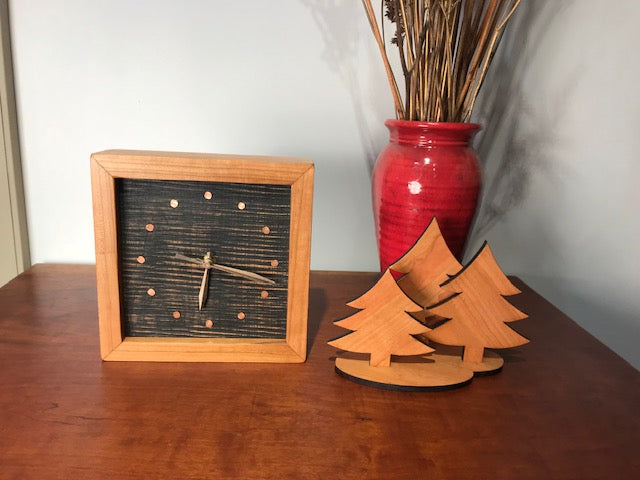 Christmas Tree Trio in cherry
