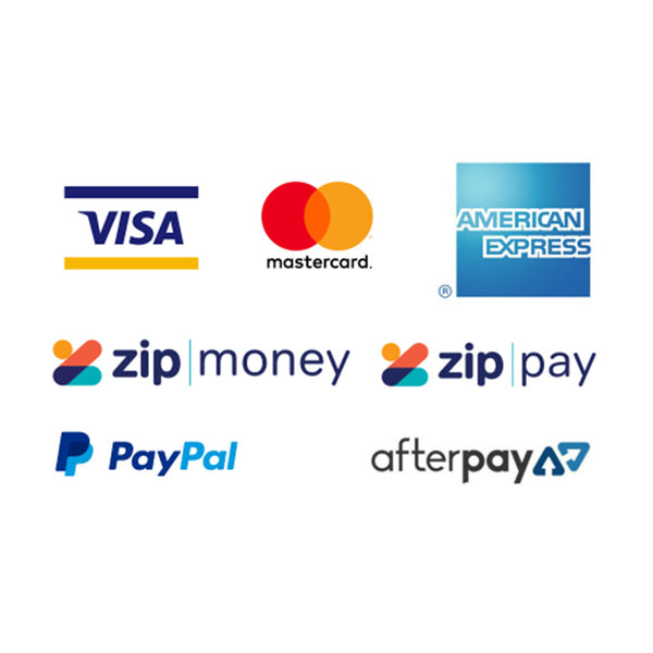 Easy payment options, Afterpay, zipPay and credit cards