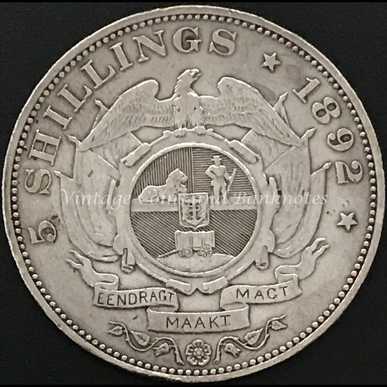 1892 South African 5 Shillings Single Shaft gEF