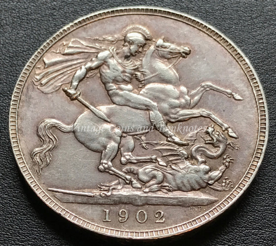 1902 British Crown Edward VII Silver
