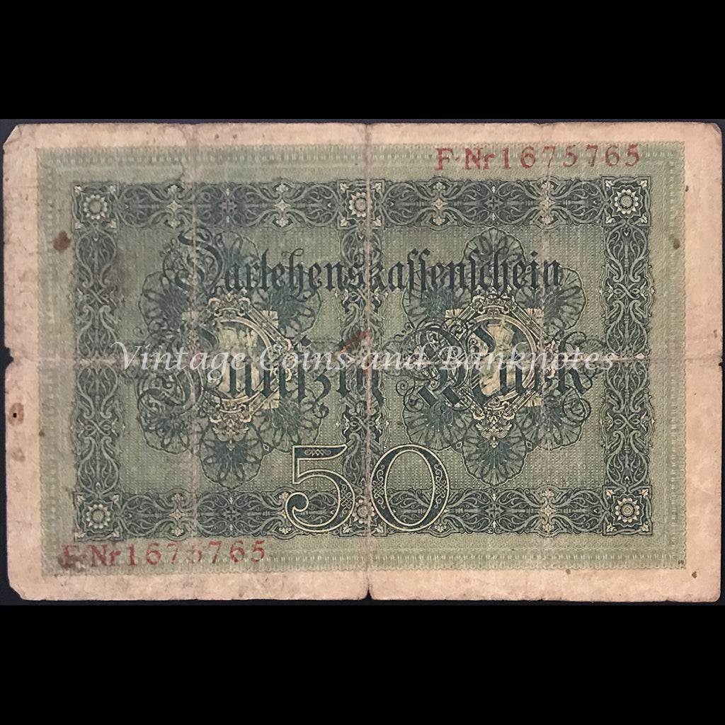 Germany 1914 Darlehenskassenschein 50 Mark VG