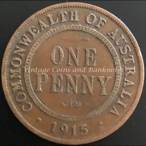 1915L Penny George V gFINE