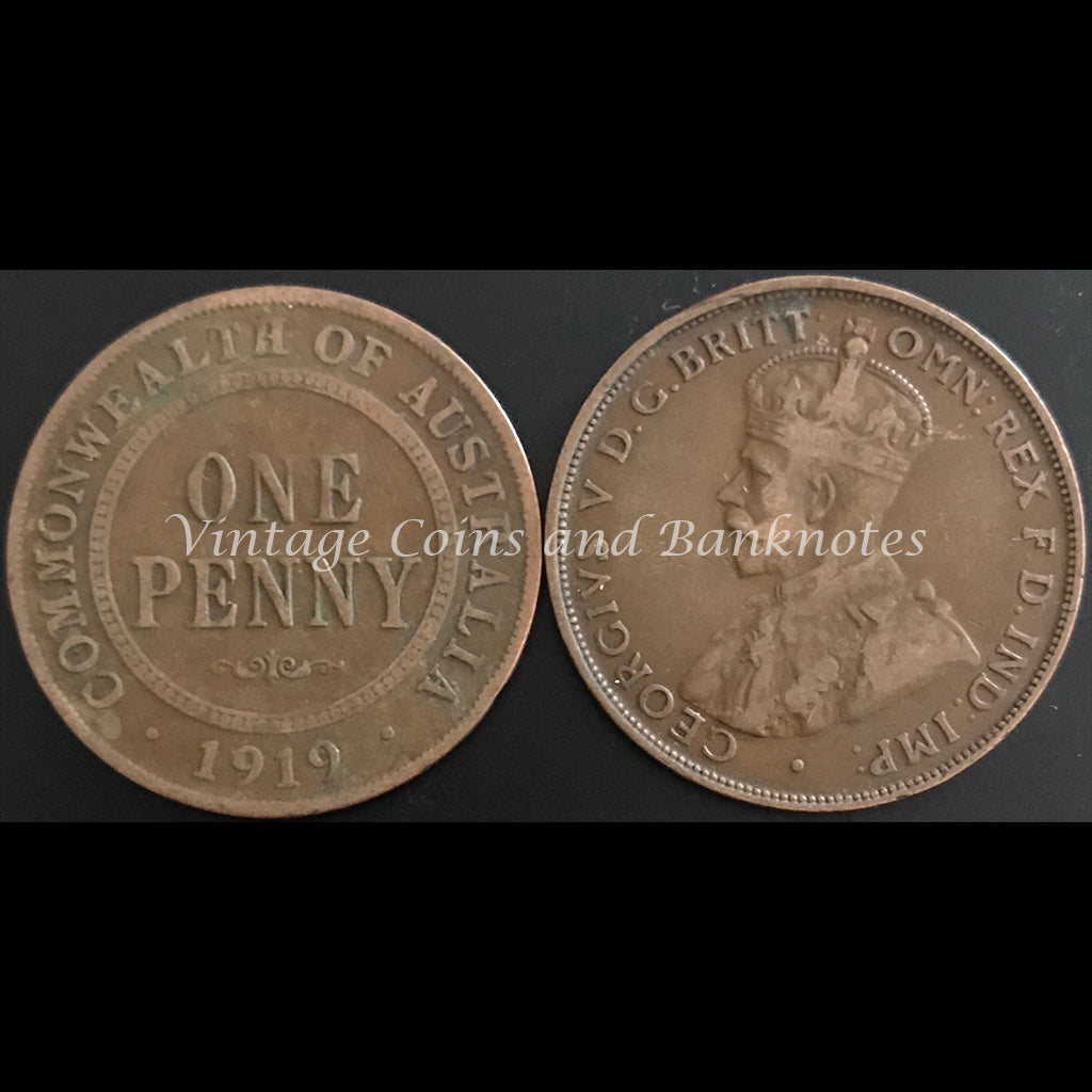 1919M Penny George V gFINE+