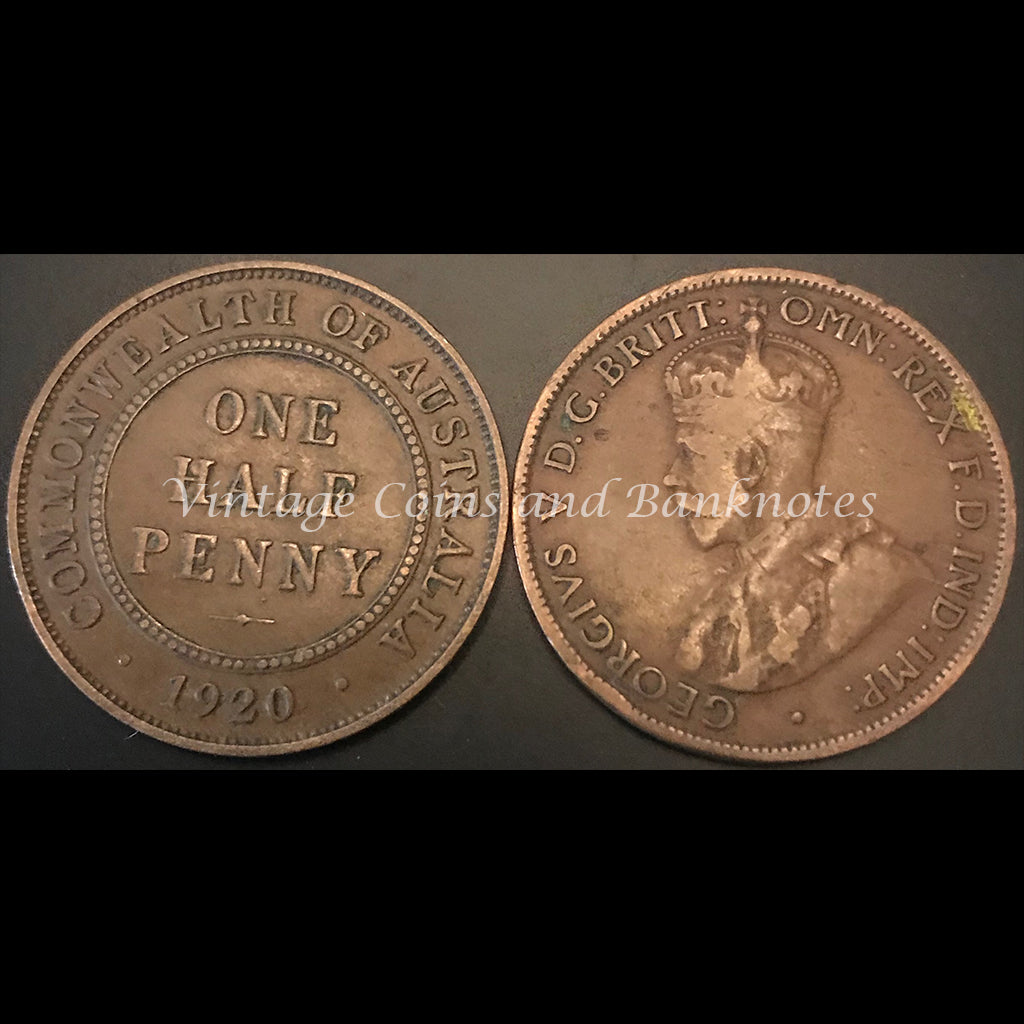 1920S Half Penny George V gFINE