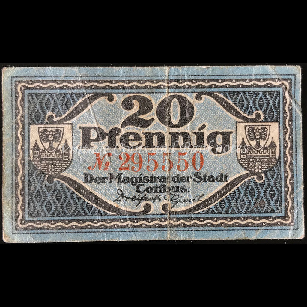 Germany 1920 20 Pfennig - Cottbus Notgeld