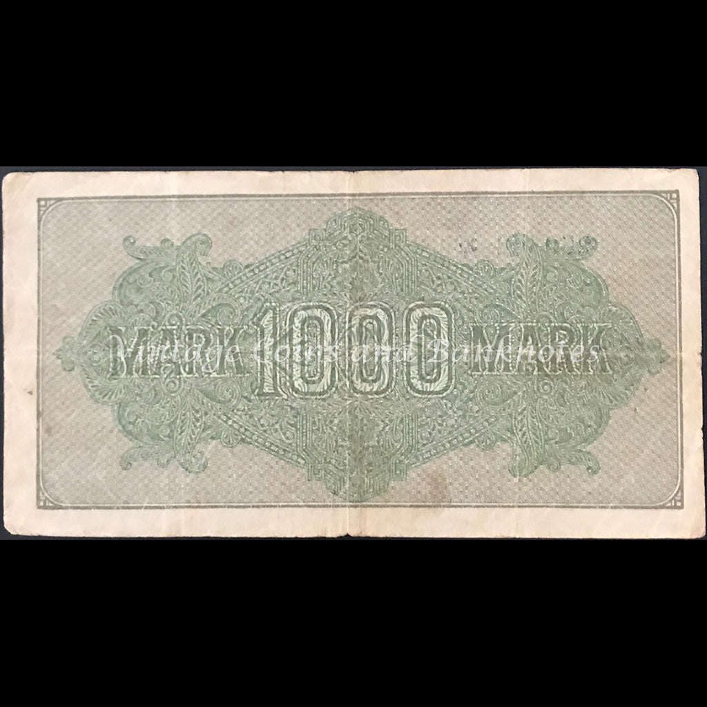 Germany 1922 Reichsbanknote 1000 Mark Star Note gFINE