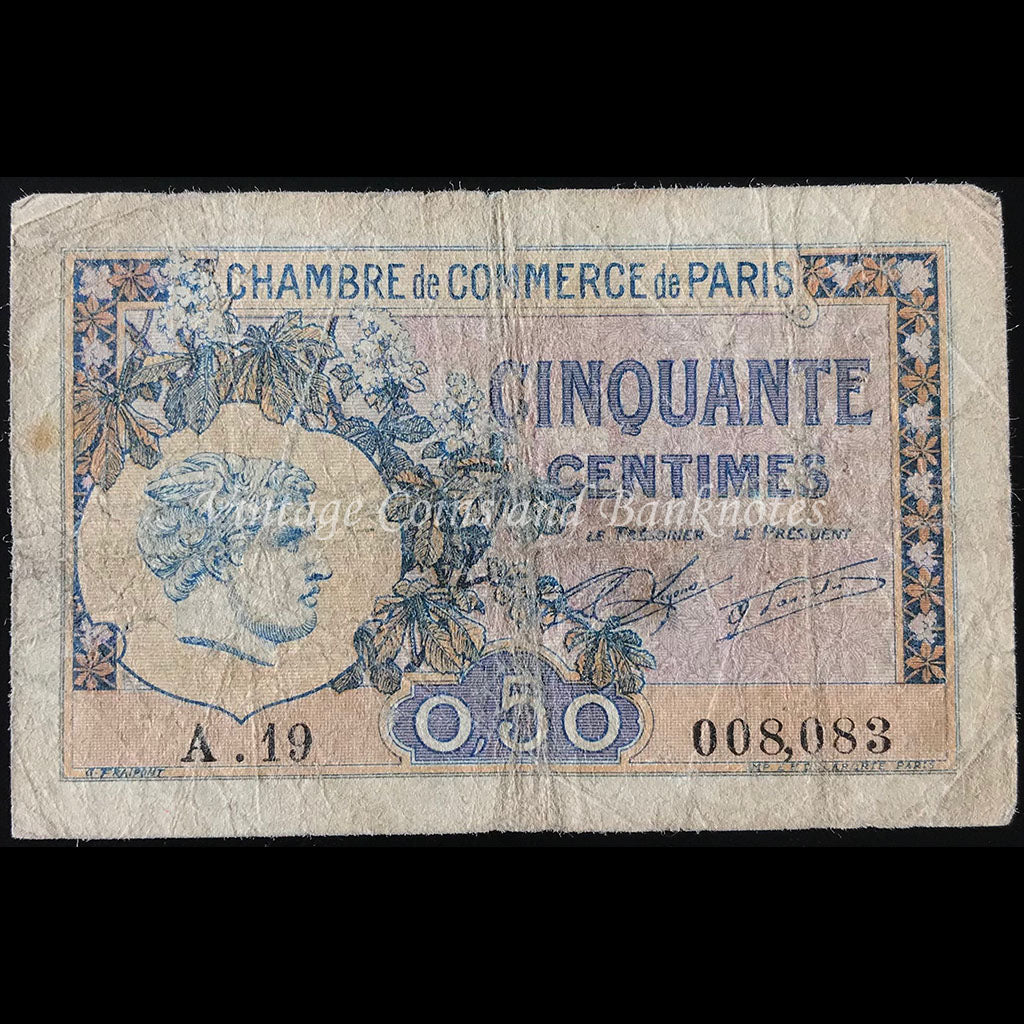 France 1922 50 Centimes - Chambre de Commerce de Paris