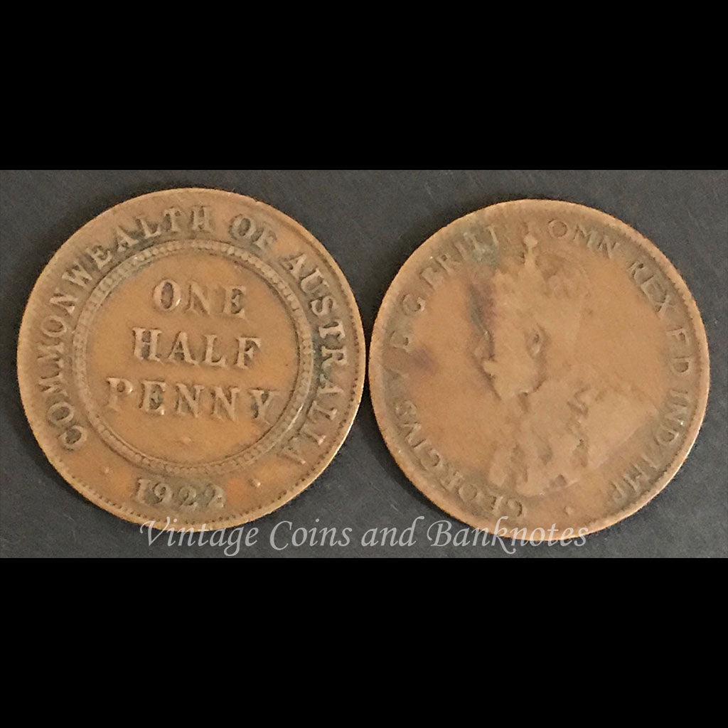 1922 Halfpenny George V