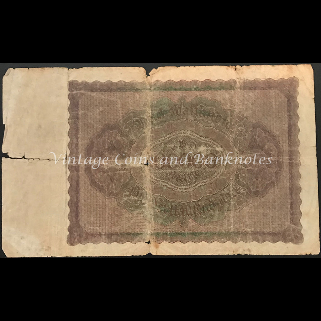 Germany 1923 Reichsbanknote 100,000 Mark VG