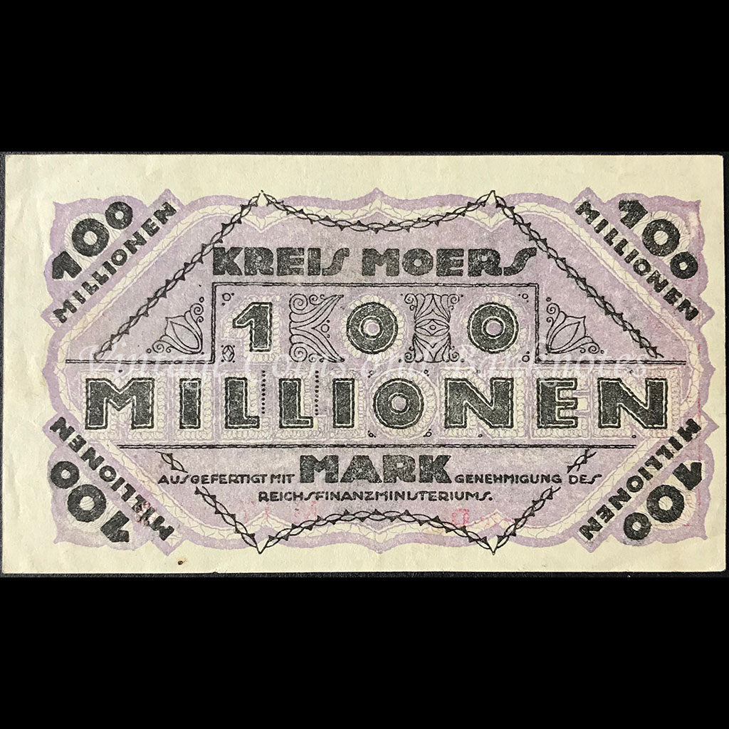 Germany 1923 100 Millionen Mark - Moers Notgeld