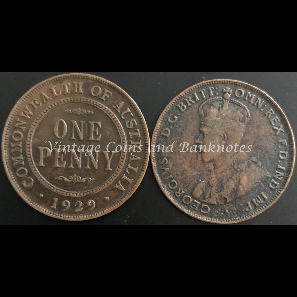 1929M Penny George V gFINE