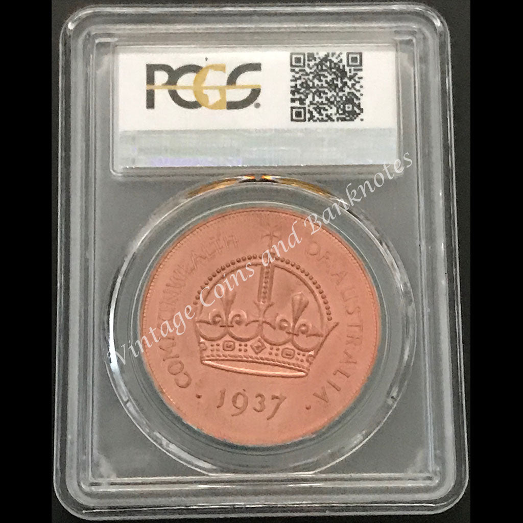 1937 Crown PCGS Graded Reproduction Issue in Copper PR65