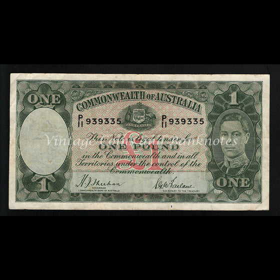 1938 Sheehan McFarlane One Pound George VI aFINE