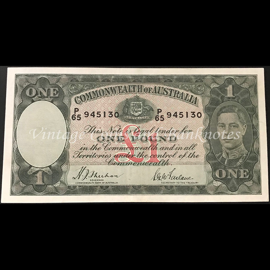 1938 Sheehan McFarlane One Pound George VI gEF