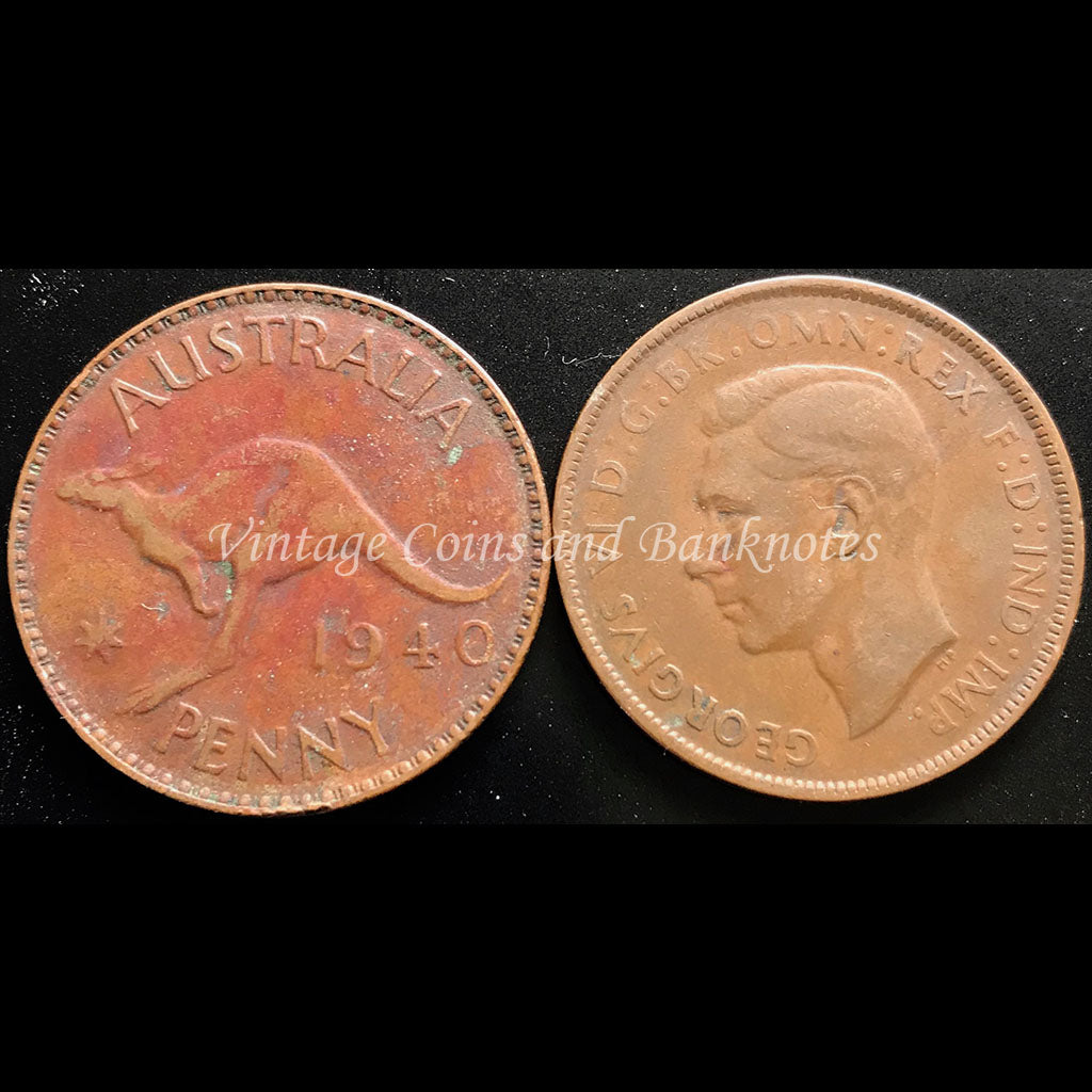 1940 Penny George VI - EF Perth Mint