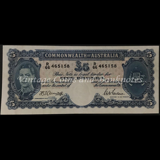 1941 Armitage McFarlane Five Pounds George VI gEF+