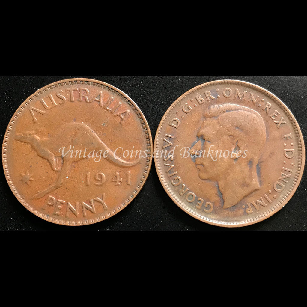 1941 Penny George VI - VF Perth Mint