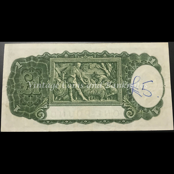 1942 Armitage McFarlane One Pound George VI aVF