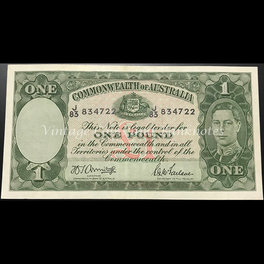1942 Armitage McFarlane One Pound George VI gEF