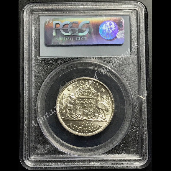 1944-S Florin George VI PCGS Graded MS63 (ChUNC+)
