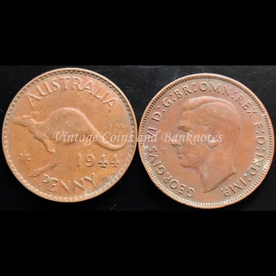 1944 Penny George VI - VF Perth Mint