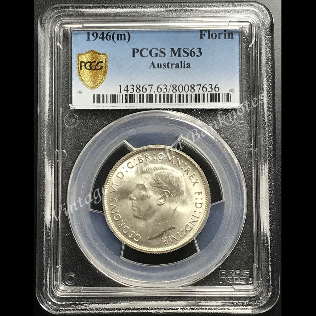 1946 Florin George VI PCGS Graded MS63 (ChUNC)