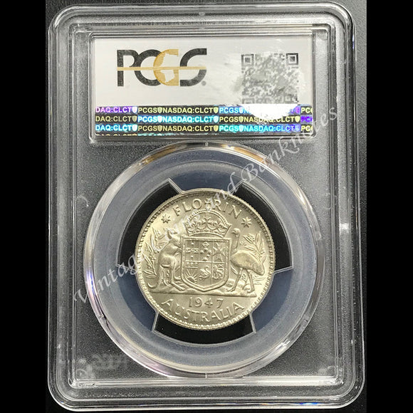 1947 Florin George VI PCGS Graded MS64 (ChUNC/GEM)
