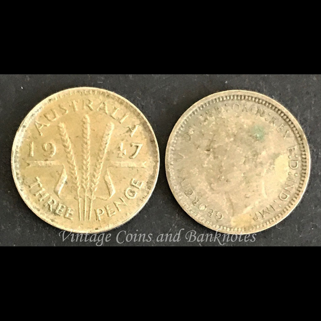 1947 Threepence George VI