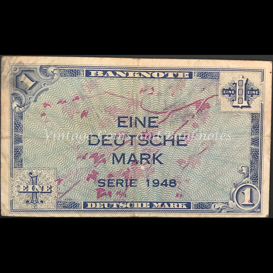 Germany 1948 Federal Republic 1 Deutsche Mark US Army Command FINE