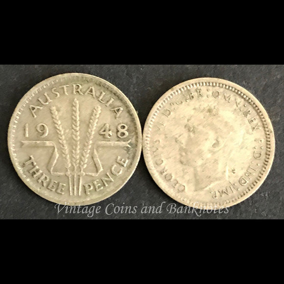 1948 Threepence George VI