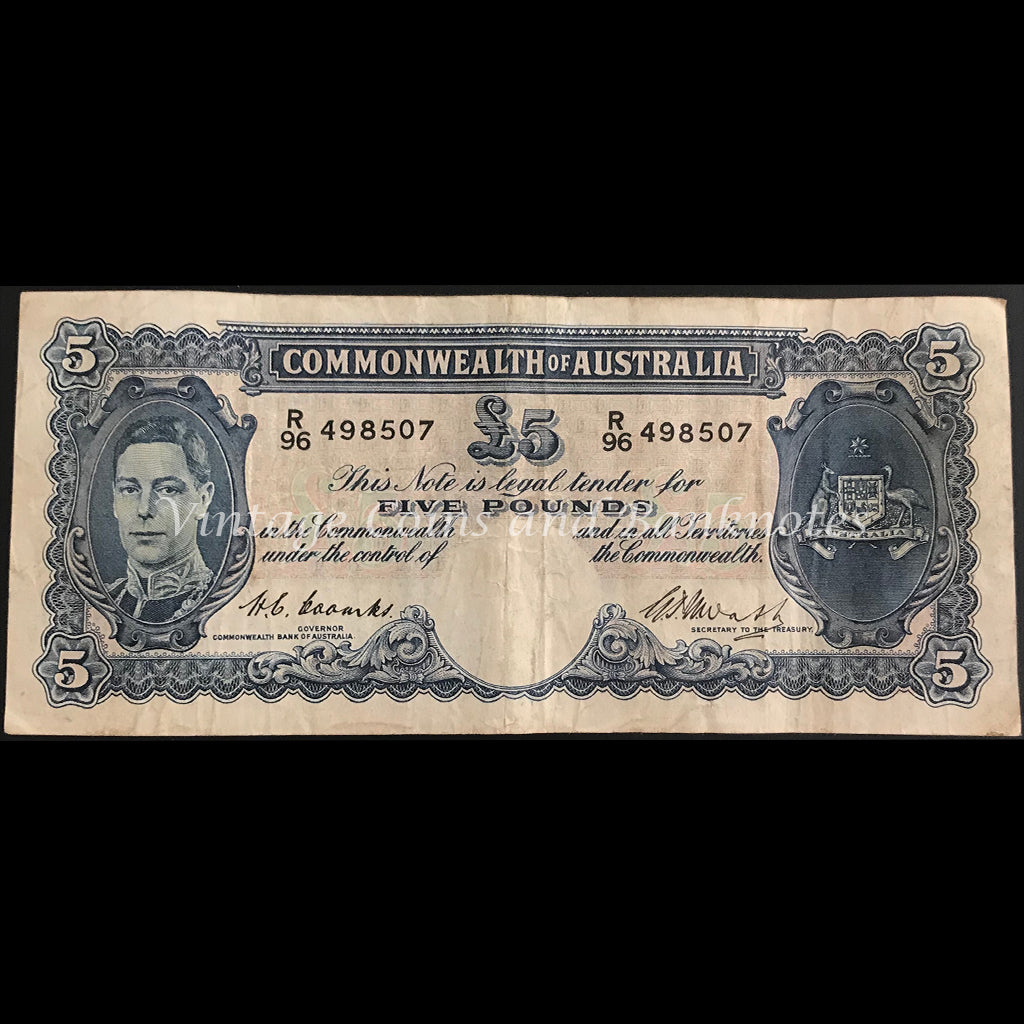 1949 Coombs Watt Five Pounds George VI gFINE
