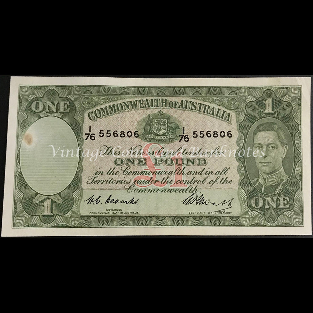 1949 Coombs Watt One Pound George VI gEF+