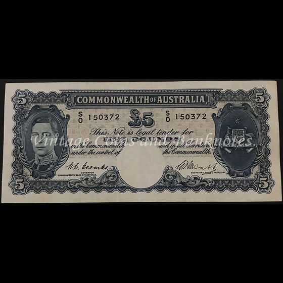 1949 Coombs Watt Five Pounds George VI gVF