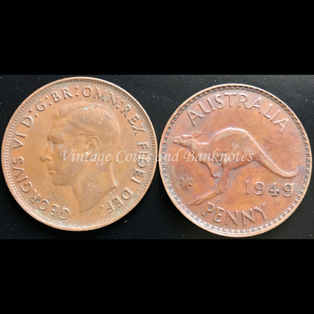 1949 Penny George VI - VF Melbourne Mint