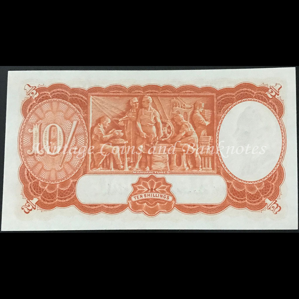 1949 Coombs Watt Ten Shillings George VI UNC