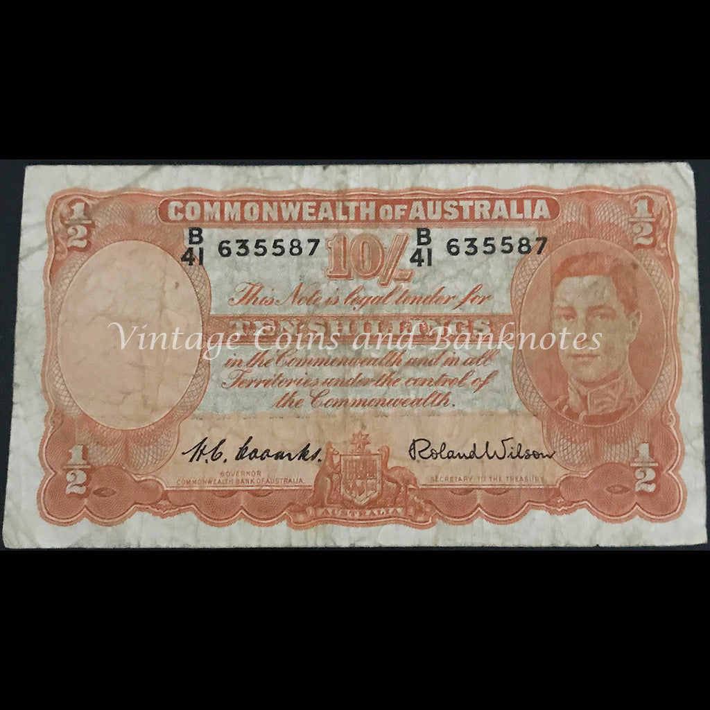 1952 Coombs Wilson Ten Shillings George VI aFINE