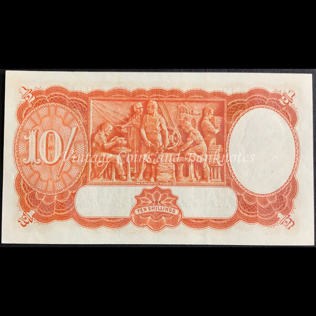 1952 Coombs Wilson Ten Shillings UNC