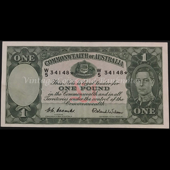 1952 Coombs Wilson One Pound Star Note aUNC