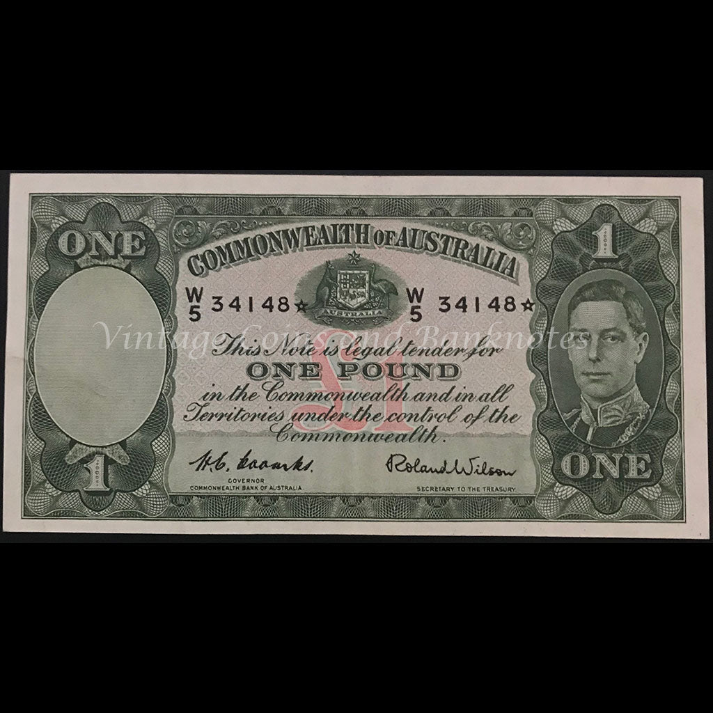 1952 Coombs Wilson One Pound Star Note aUNC RARE!