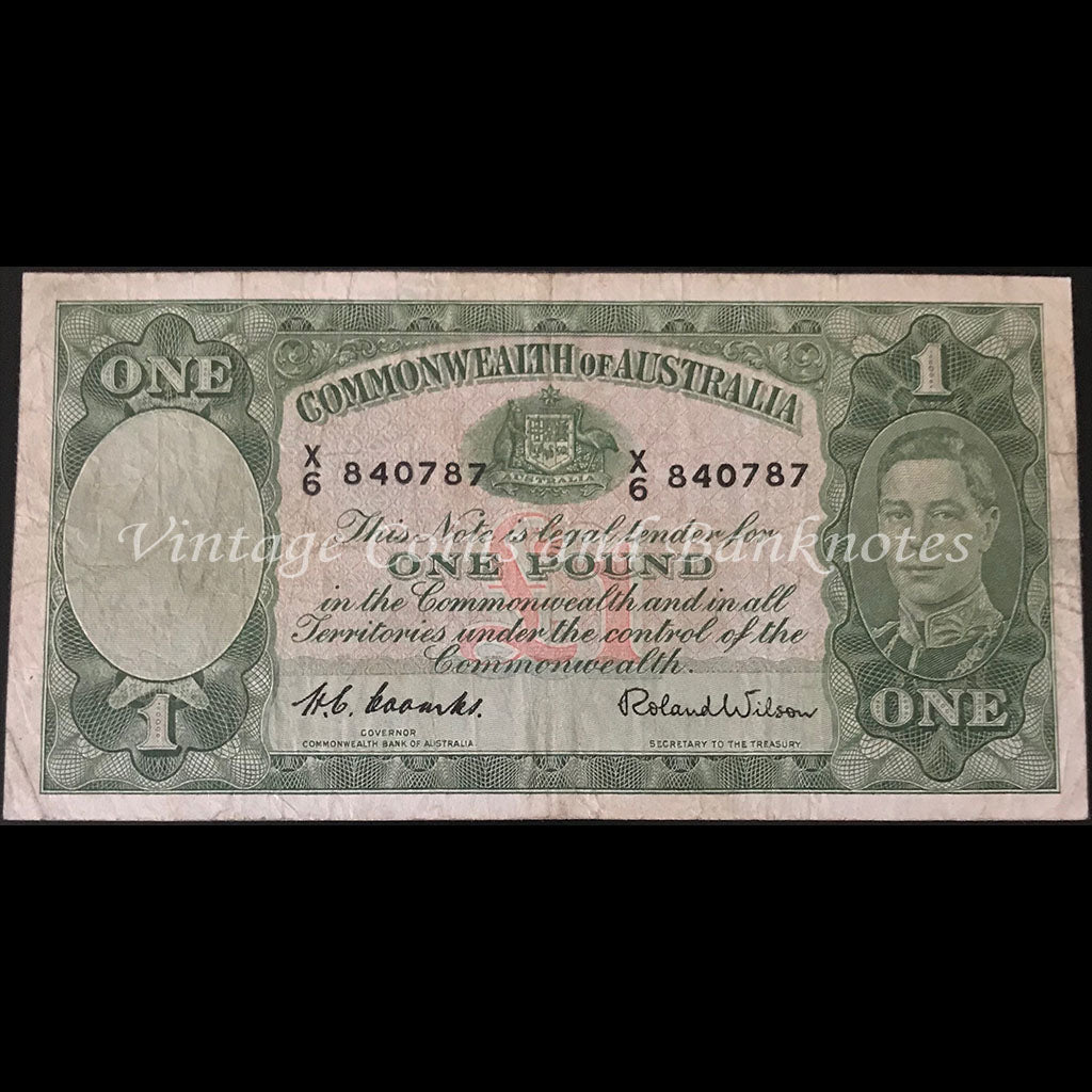 1952 Coombs Wilson One Pound FINE