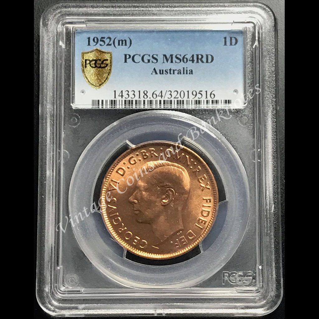 1952 Penny George VI PCGS Graded MS64 (ChUNC/GEM)