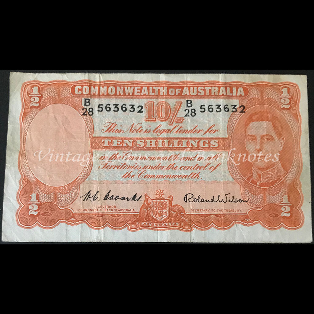 1952 Coombs Wilson Ten Shillings gFINE