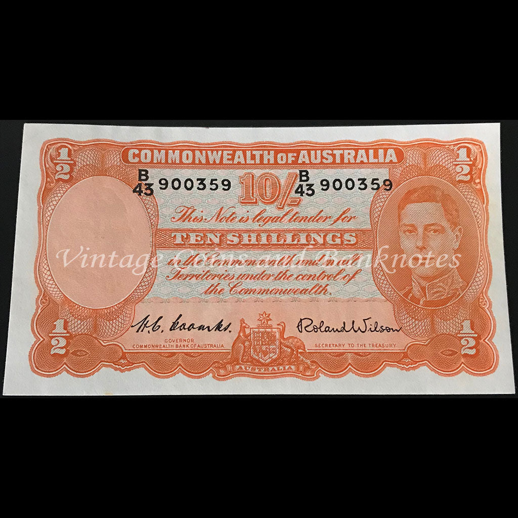 1952 Coombs Wilson Ten Shillings aUNC